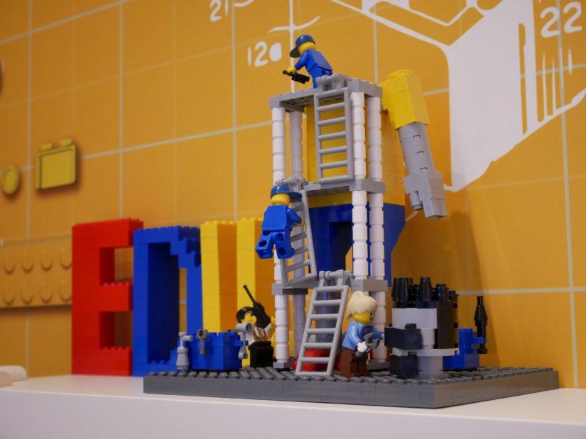 ワークショップ会場のレゴ
