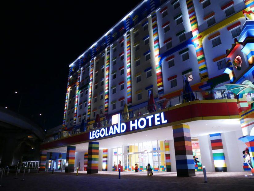 夜のレゴランドホテル