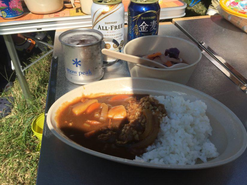 カレーライス・豚汁・オールフリー