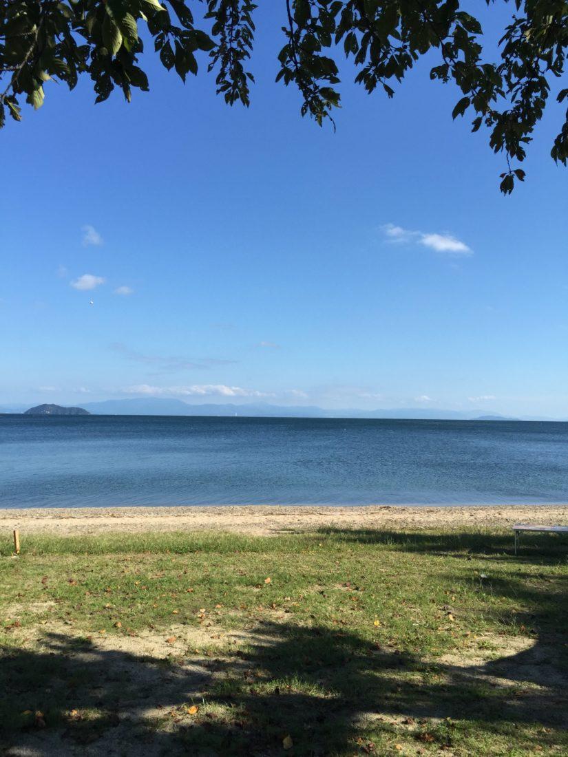 眼の前は琵琶湖