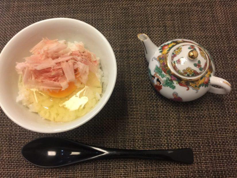 鰹節の卵かけご飯